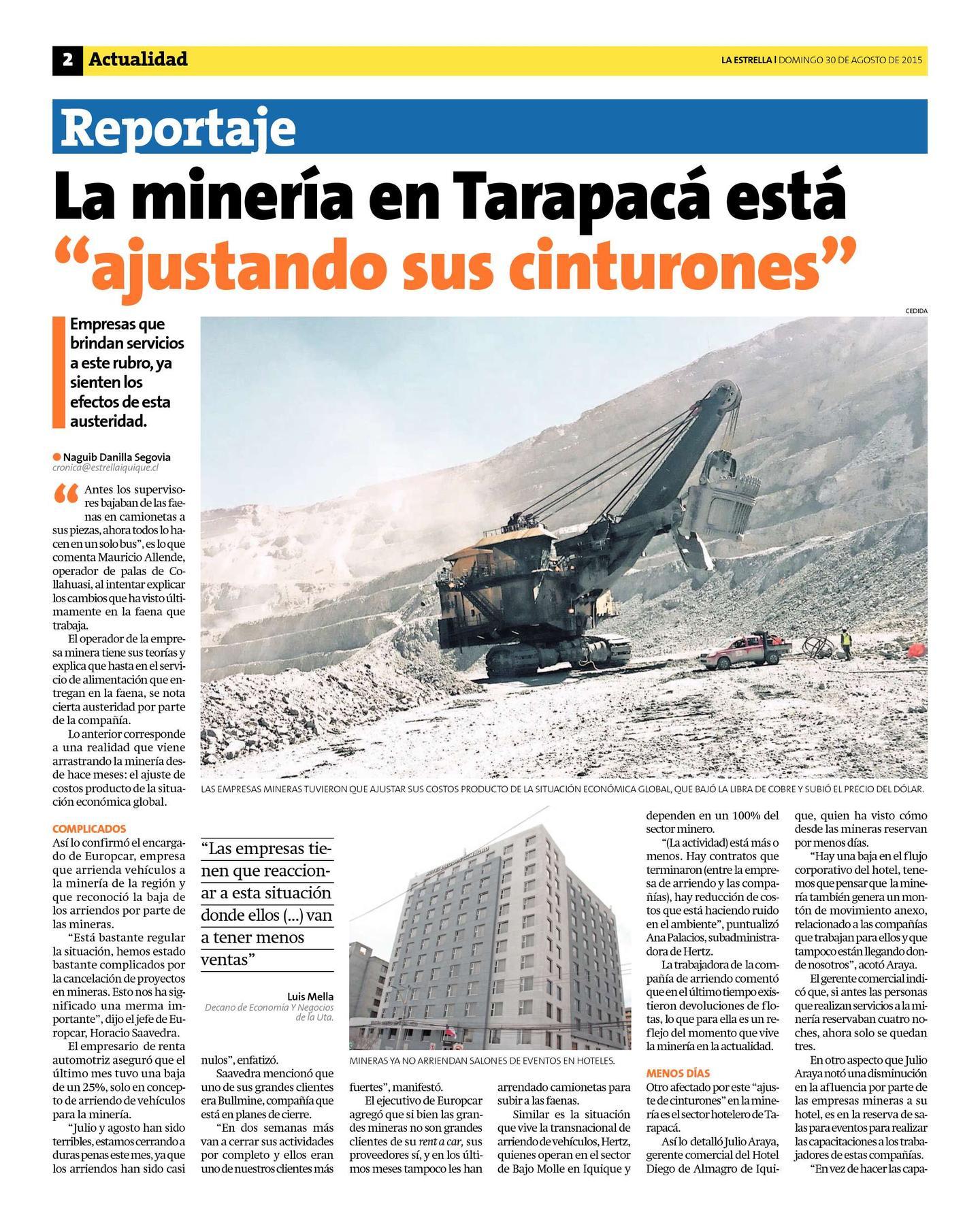 Empresas contratistas faenas mineras